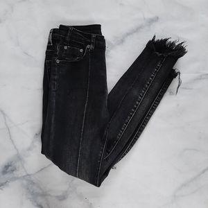 One Teaspoon Black High Waist Freebird II Jeans